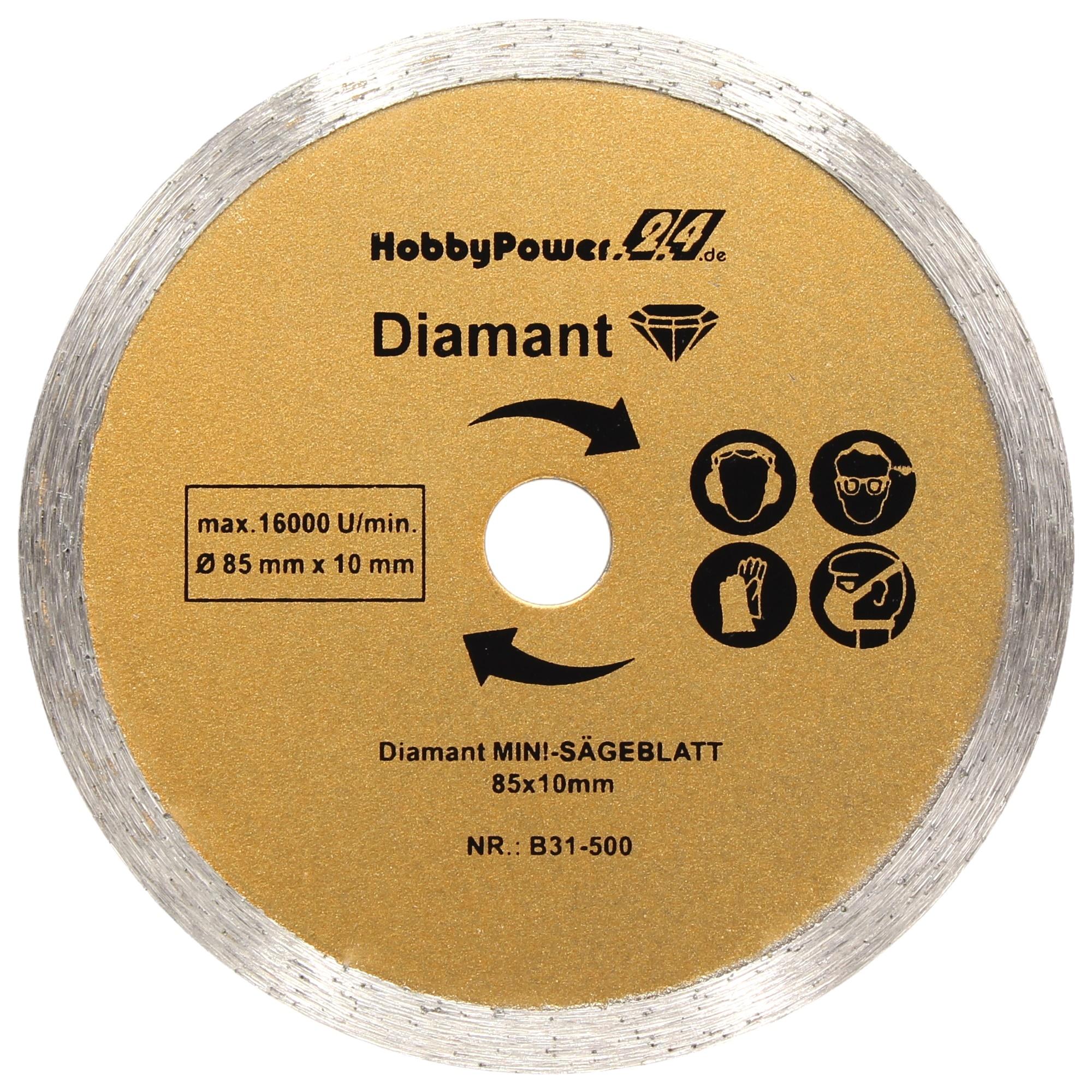3x Sägeblatt Diamanttrennscheiben Diamantscheiben 85mm für Stein Fliesen Keramik