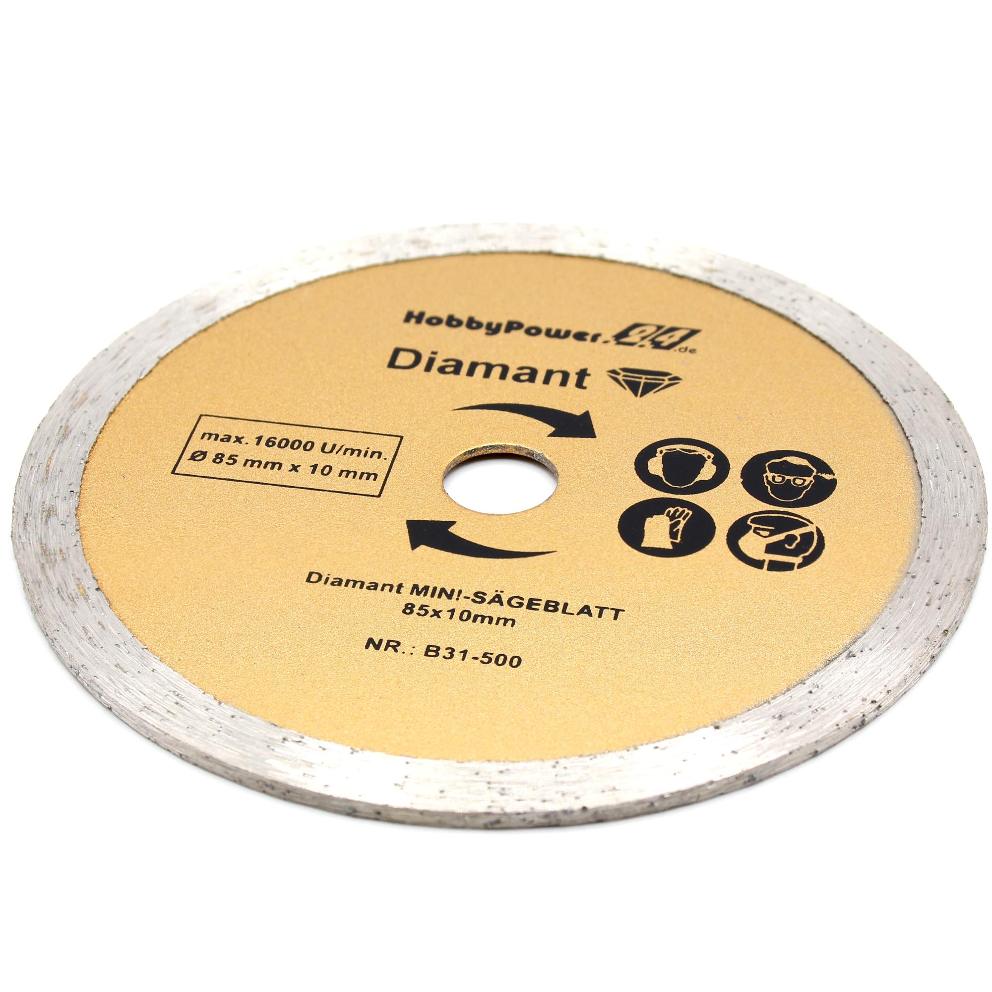 3 Mini Kreissägeblatt Trennscheibe Ø 85mm 10mm für Handkreissäge Tauchkreissäge